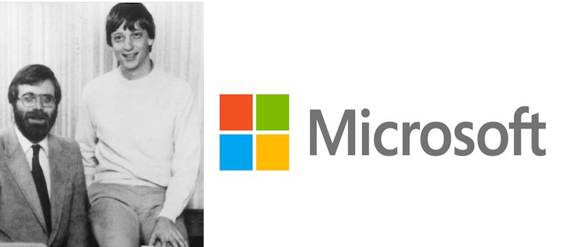 Microsoft logo and the history behind the company