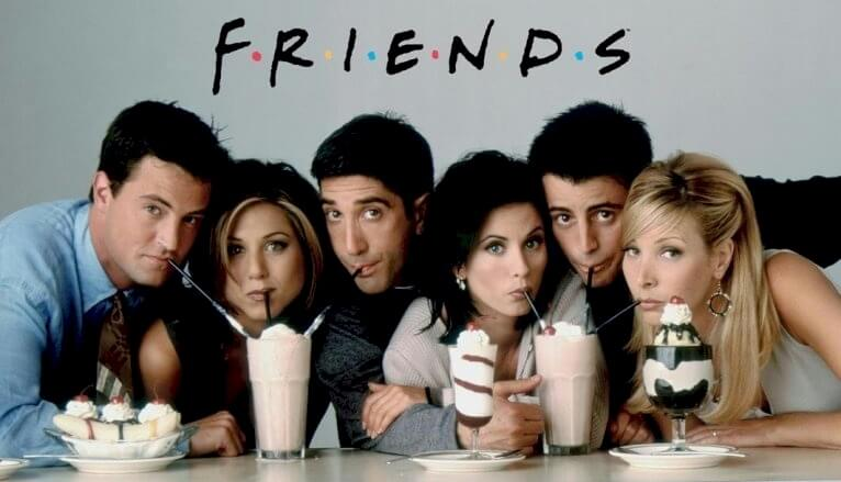 Friends logo and the history of the TV show