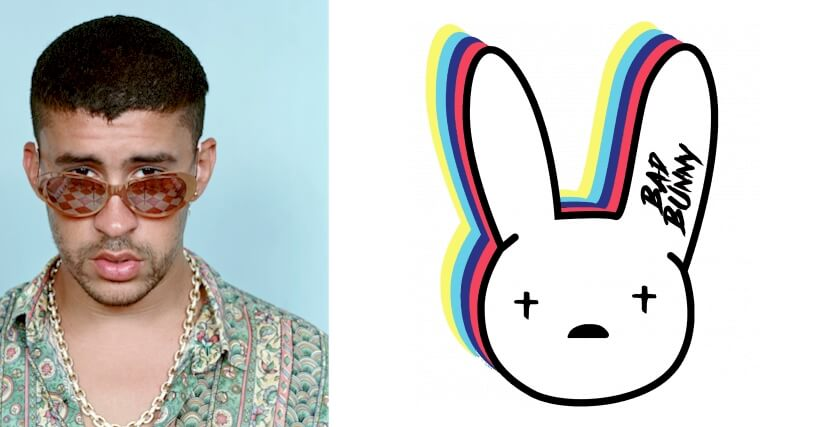 Bad Bunny logo and some history behind the rapper